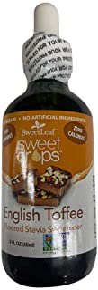 SweetLeaf Sweet Drops Liquid Stevia Sweetener (English Toffee, 2 Ounce Pack of 5)