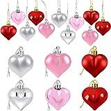 Basage 36 Piezas de Adornos en Forma de CorazóN de San ValentíN Decoraciones del CorazóN de San ValentíN Decoraciones Colgantes RomáNticas del DíA de San ValentíN