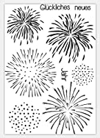 Fireworks Transparent Clear Silicone Stamp/Seal for DIY scrapbooking/photo album Decorative clear stamp sheets ST0133