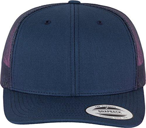 YUPOONG Flexfit Snapback Unisex Baseball-Mütze | Trucker Kappe Mesh Basecap, Blau (Marine), Gr. One size