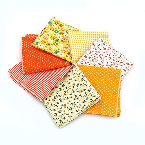 Namvo 7 paños de algodón de 50 x 50 cm, para manualidades,...