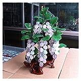Vegetación y plantas artificiales Bonsai artificial Amatista natural Jade Uvape Bonsai para la entrada de la decoración interior de la entrada de la entrada del vino Jade Talling Decoration Decoración