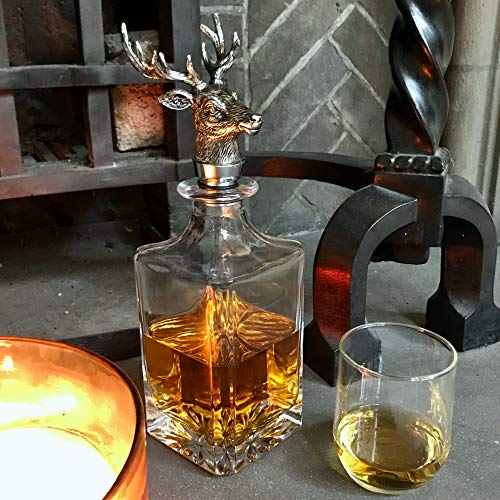 thuis in The Country - The Stag's Head Decanter - Whisky Port Brandy Wine Decanter - 21e 40e 50e huwelijkspensioen cadeau