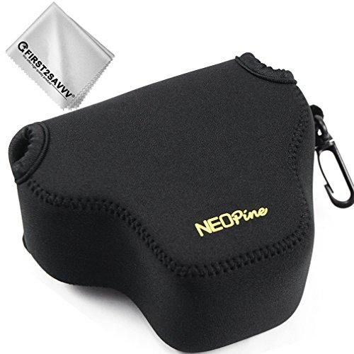 Negro Funda Cámara Reflex Neopreno Protectora para Sony RX1R II RX1R RX1 RX1RM2 + Paño de Limpieza QSL-RX1 RII-01G11
