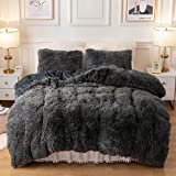 Plush Fluffy Duvet Cover Oeko-TEX Certified Luxury Ultra Soft Shaggy Crystal Velvet Bedding...