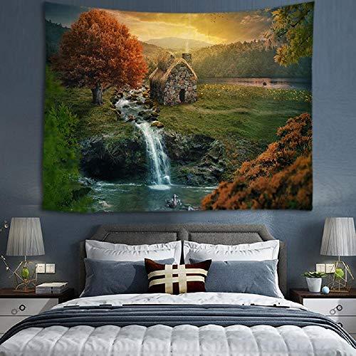 Tapiz de árbol de bosque, tapices para colgar en la pared, pared para decoración del hogar, sala de estar, dormitorio, arte de pared 150X200CM