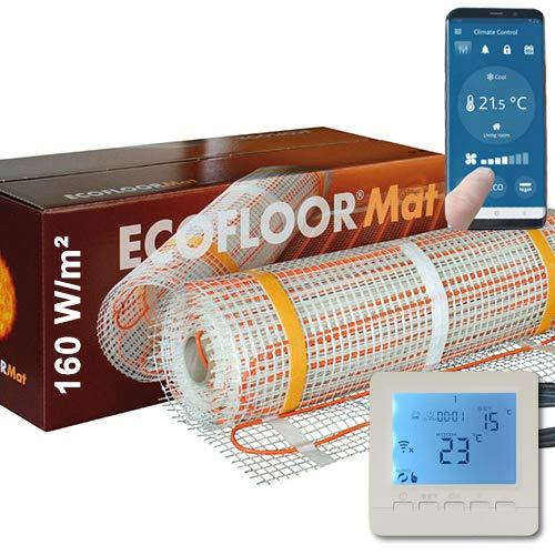 400 Watt PREMIUM Fußbodenheizung elektrisch Fliese Bad Heizmatte Thermostat 2,5 m²