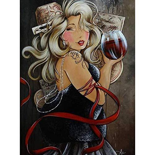 Puzzle de 1000 Piezas Para Adultos Rompecabezas de Madera Señora gorda beber vino Entretenimiento Juguetes Regalo educativo Decoración moderna para el hogar