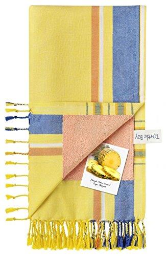 Turtle Bay - Toalla de Playa/Pareo - Toalla de baño - Kikoy Towel Ukunda - Color : Imperial Yellow - Tamaño : 95 x 170 cms