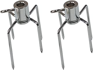onlyfire 6002 Rotisserie Meat Forks(1-Pair) for Grills-Fits 1/2-Inch Hexagon & 3/8-Inch and 5/16-Inch Square Spit Rods
