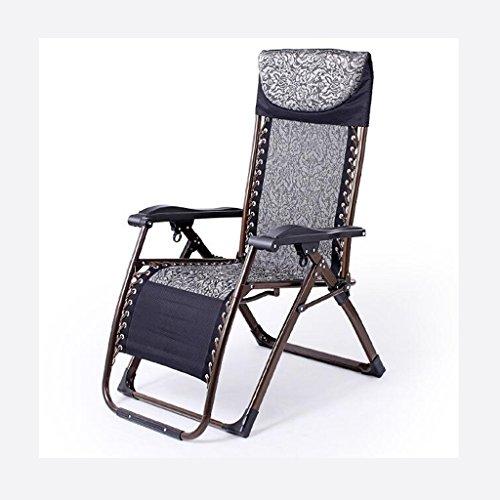 Rollsnownow Encre Bleu Pas de Coussin Chaise Pliante Déjeuner Pause Chaise Longue Chaise de Loisir Loisirs Chaises de Canapé Paresseux Pour Les Personnes Agées