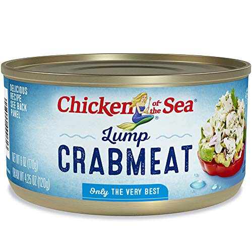Chicken of the Sea Lump Crab, 6oz Cans (Pack of 12) – Gluten Free, High in Omega 3 Fatty Acids & Protein, and Calcium (4800000061)