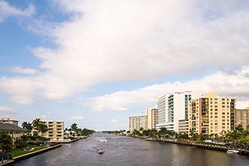 Boats and modern buildings on the Intracoastal Waterway in Fort Lauderdale Broward County Florida USA Poster Print by Panoramic Images (36 x 24) -  PPI175347LARGE