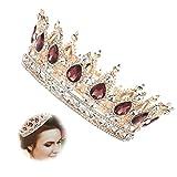 Vintage Krone, Kristall Kostüm Königin Krone für Frauen, Strass Festzug Tiara Stirnband,...