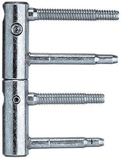 Anuba 3-DIM Charnières Bandes D'Encadrement Bande Boulons 65 bzw.55mm, Capacité 120 kg, Ø 20 mm, Galvanisé Argent