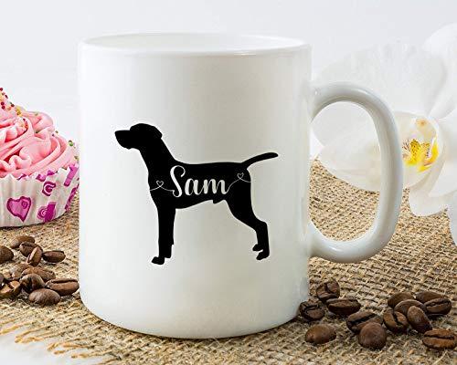 Taza personalizada con nombre de Vizsla húngaro, para papá, regalo divertido para amantes de los perros, 11 onzas