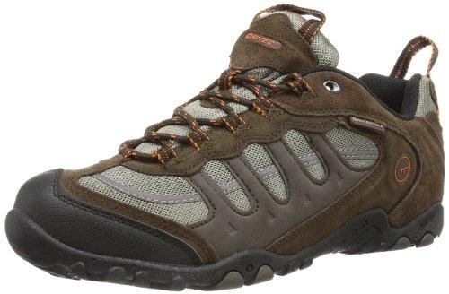 Hi-Tec Herren Penrith Low WP Trekking- & Wanderhalbschuhe, Braun (Chocolate/Taupe/Orange 041), 41 EU