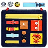 Blppldyci Toddlers Busy Board - Preschool Basic Skills Toys for Toddlers 1 2 3 4 Years Old for Fine Motor Skills & Learn to Educational Learning Toys - Sensory Toy for Airplane or Car