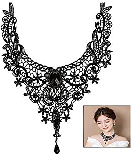 iwobi Gothic sieraden dames ketting acryl kant kraag vintage ketting