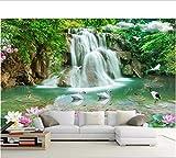 Custom Photo Wallpaper Mural Wall Sticker Landscape Waterfall Landscape 3D Tv Wall 3D-200x140cm