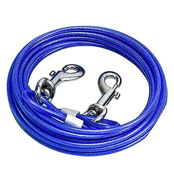 SANTOO Chaine Chien, Câble d'attache pour Chiens Traction Corde de Sécurité pour Animaux Jusqu'à 45 kg, 5m