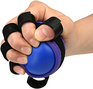 CHoppyWAVE Squeeze Toys Stress Relief, Anti-Spasticity Finger Ring Grip Trainer Elastic Ball Strengthener Training Tool - Blue