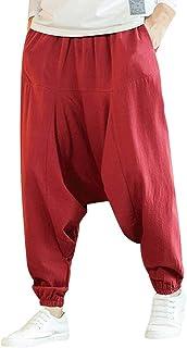 FRAUIT Pantaloni Casual Lino Leggero Uomo Pantalone Taglie Forti Pantaloni Uomini Elegante Cavallo Basso Pantaloni Ragazzo...