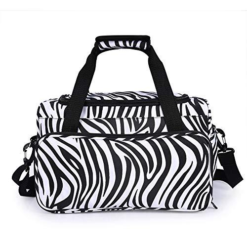 Duevin Zebra Stripe handtas kappersgereedschap tas draagbare schaar kamerhouder tas hairstyling case