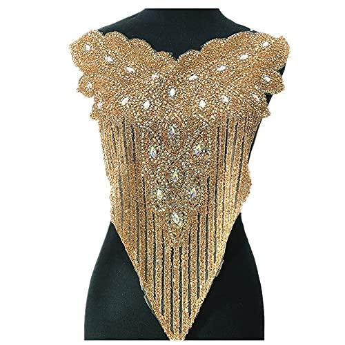 YUNSI Motivo de Diamantes de imitación de Oro Fix Fix Hot Rhinestones Embellecimiento Hierro en Bricolaje Parches Suministros de Costura Artesanía Nigeria Artesanía (Color : Gold)