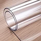 OstepDecor Custom 2mm Thick Clear Table Cover, 60 x 36 Inch, Table Protector for Dining Room Table, Clear Table Cloth Cover Protector, Clear Table Pad, Plastic Table Cloth for Kitchen Wooden Table