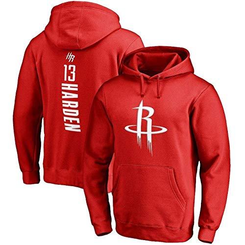 WXR Sudaderas con Capucha para Hombre Sudadera con Capucha de los Hombres de la NBA Houston Rockets James Harden Suéter de Baloncesto Edición Suelta (Color : Red, Size : S)