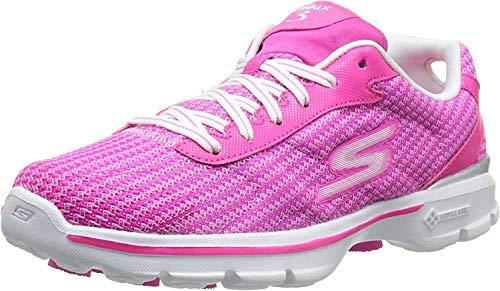 Skechers Skechers GO Walk 3 FitKnit, Damen Low-Top Sneaker, Pink (HPK), 35 EU (2 UK)