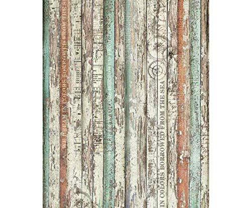 Reis-Papier und Holz-Zahnräder, Stamperia, A3 -, Reis-Papier Serviettentechnik, Hobby Farben