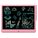 FLUESTON LCD Writing FLUESTON LCD Writing Tablet 15 Inches Colorful Screen Drawing Pad, Doodle and Scribbler Boards for Kids, Electronic Educational Learning Toys for 3-12 Year Old Girls