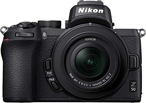 Nikon Z50 - Cámara sin Espejo con Objetivo 16-50 DX VR, trípode, Tarjeta SD 64GB 1000X y Libro -...