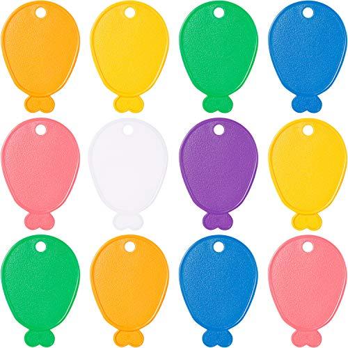 12 Piezas Pesas de Globos Pesas de Plástico en Forma de Globos Pesas de Globos de Colores Mixto para Decoración de Fiesta