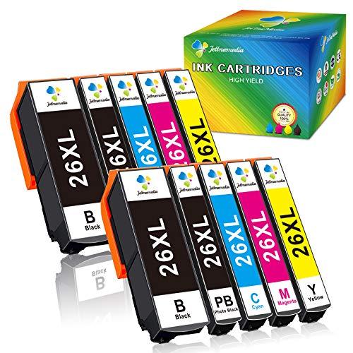 26XL Cartuchos de tinta para Epson 26 26XL para Epson Expression Premium XP-510 XP-520 XP-600 XP-605 XP-610 XP-615 XP-620 XP-625 XP-700 XP-710 XP-720 XP-800 XP-810 XP-820