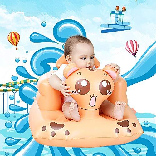 Sofá Inflable de la Silla de los niños Inflables Plegable y Portátil Silla de Comedor para Bebés Asiento de Bañera