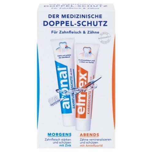 Aronal en elmex Mini dubbele bescherming tandpasta, 6-pack (6 x 24 ml)