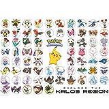 Grupo Erik Editores Pokemon Kalos Region Poster