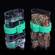 Bird Automatic Water Trap Bird Cage Accessories Drinking Fountain Bird Utensil(green/clear)
