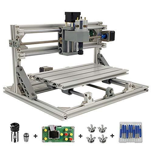 SISHUINIANHUA 3018 Mini-CNC-Werkzeugmaschine 3-Achsen-Leiterplatten-Fräsmaschine, Holzbearbeitung Router 3018 kann offline Arbeiten
