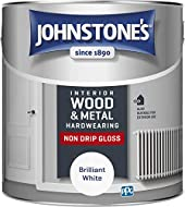 Johnstone's Hardwearing Non Drip Gloss provides a high sheen finish for interior and exterior wood and metal including skirting boards, doors, radiators and staircases. The solvent based drip resistant formulation is long lasting and will minimise me...