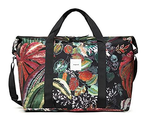 Desigual Borsa donna in nylon stampata multicolor con borsetta interna di colore nero