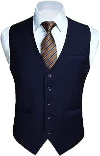 navy vest suit