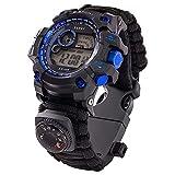 LOY Reloj de Pulsera de Supervivencia 7 en 1 Reloj Deportivo Militar de Emergencia Multifuncional al Aire Libre Unisex para Senderismo/Aventura