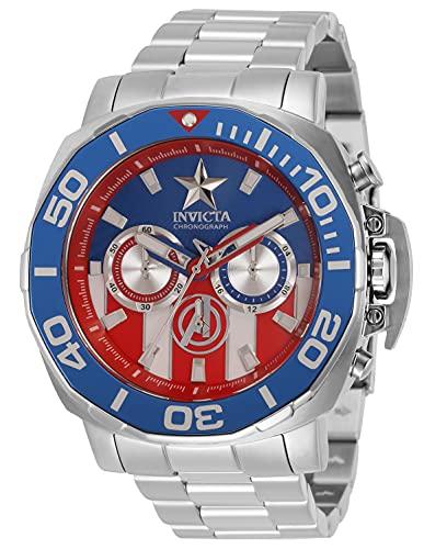Invicta Marvel - Captain America 35098 blu Orologio Uomo Quarzo - 48mm