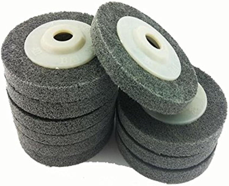 Nylon Fiber Stainless Steel Metal Polishing Grinding Non Woven Drawing Wheel 100  16mm 7P Hardness