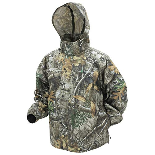 FROGG TOGGS Pro Action Rain Jacket, Realtree Edge, Size Medium Pro Action Rain Jacket, Realtree Edge, Medium