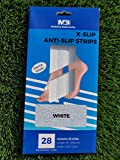 X-Slip 28 pc High Grip Strength Anti/Non Slip Safety Adhesive Decals Stickers Strips for Shower Bathtub Steps Stairs Indoors Outdoors Marine Grade (White)